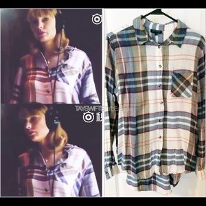 Topshop Flannel Shirt ASO Taylor Swift US 4/UK8